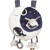 Jouet d'éveil musical et lumineux Lune Merlin - Sauthon Baby Déco