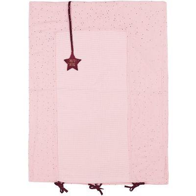 Housse de matelas à langer rose à pois dorés (60 x 80 cm)  par BB & Co