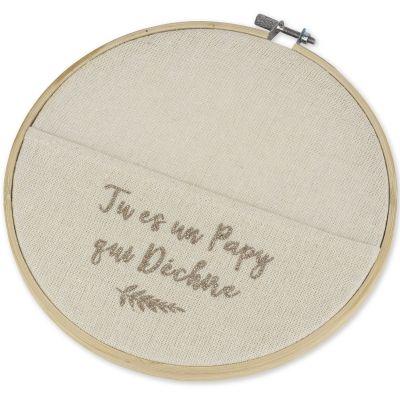Cercle en lin Tu es un Papy qui déchire  par Arty Fêtes Factory
