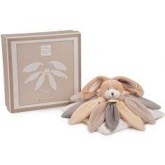 Coffret doudou lapin collector taupe (28 cm)