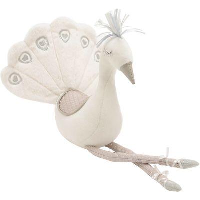 Peluche paon blanc (43 cm)  par Amadeus Les Petits