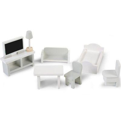 Assortiment de meubles de salons pour maison de poupées (8 pièces)      par Childhome