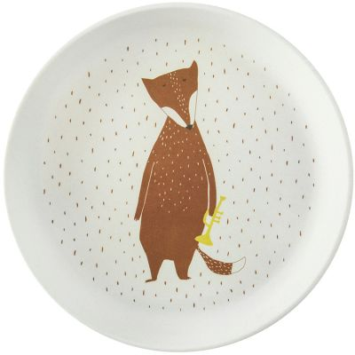 Assiette plate Mr. Fox  par Trixie