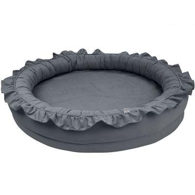 Tapis de jeu en coton cocon gris graphite Basic  par Cotton&Sweets