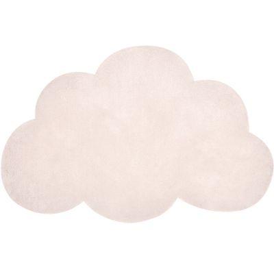 Tapis nuage en coton rose clair (67 x 100 cm)