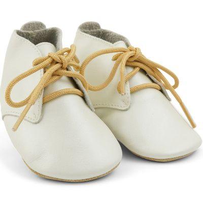 Chaussons bébé en cuir Soft soles Desert perle  (9-15 mois)  par Bobux