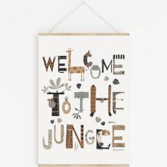 Affiche A3 Welcome to the Jungle avec support
