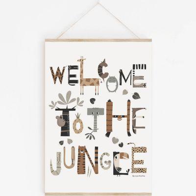 Affiche A3 Welcome to the Jungle avec support  par Lutin Petit Pois