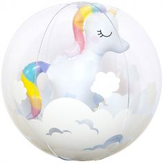 Balle gonflable licorne 3D (32 cm)