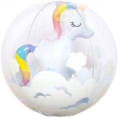 Balle gonflable licorne 3D (32 cm)