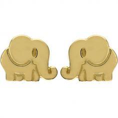 Boucles d'oreilles Éléphant (or jaune 750°)