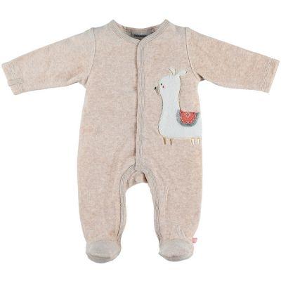 Pyjama chaud beige lama Sacha (Naissance)  par Noukie's