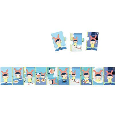 Puzzle la journée (10 pièces)  par Djeco