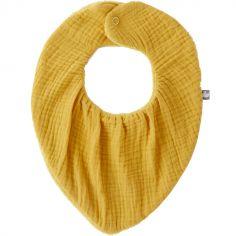 Bavoir bandana bambou réversible moutarde