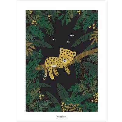 Affiche Jungle night petit guépard (30 x 40 cm)  par Lilipinso