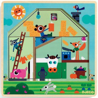 Puzzle superposable Chez Gaby (4 pièces)  par Djeco