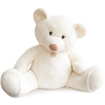 Peluche bel'ours blanc (90 cm) Histoire d'Ours