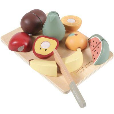 Fruits en bois à découper  par Little Dutch
