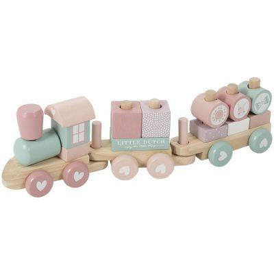 Train de construction Adventure pink  par Little Dutch