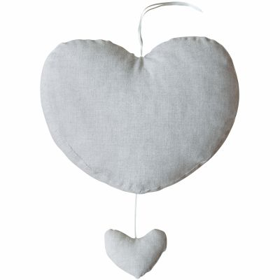 Coeur musical Sirène Grey (27 cm)  par Les Rêves d'Anaïs