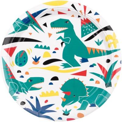 Lot de 8 assiettes en carton dinosaure Jurassic Park