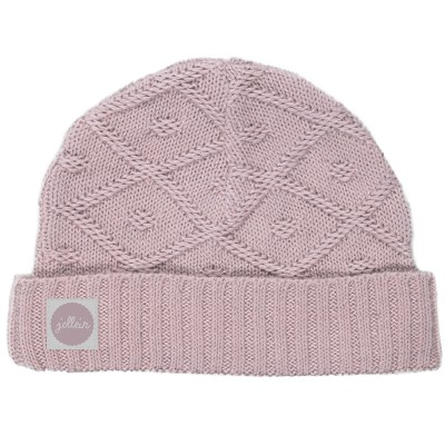 Bonnet Diamond knit vintage rose (6 mois) Jollein