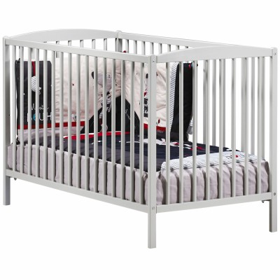 Lit bébé à barreaux New Nao gris (60 x 120 cm)  par Baby Price