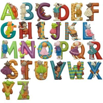 Lettre Alphabet L Rouge 7cm Moulin Roty