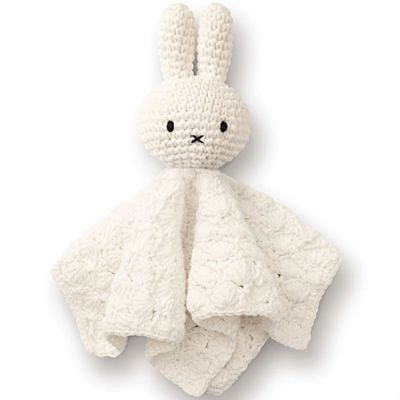 Doudou plat vintage Miffy blanc  par Just Dutch