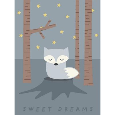 Affiche renard Sweet dreams (40 x 30 cm)  par Franck & Fischer