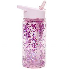 Gourde à paillettes rose orchidée (300 ml)