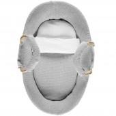 Couffin gris clair Tricoloudoux (80 x 50 cm) - Noukie's
