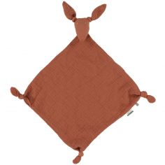 Doudou plat en mousseline kangourou Bliss Rust