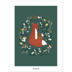 Affiche renard Forest Happiness (30 x 40 cm)
