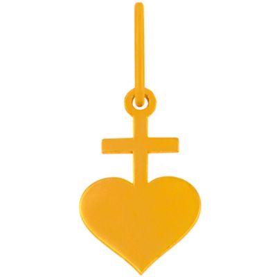 Mini bijou breloque sacré-coeur sur cordon (or jaune 18 carats)  par Maison La Couronne