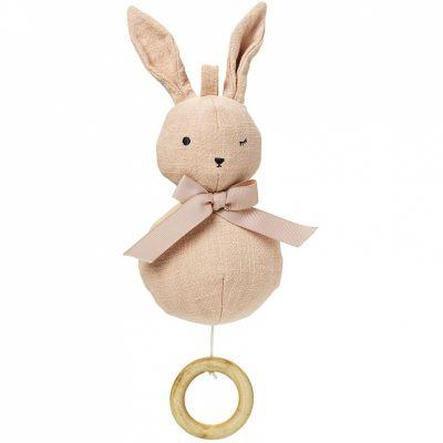 Peluche musicale à suspendre lapin Powder pink Bunny  par Elodie Details