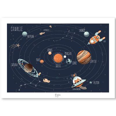 Affiche A3 Le système solaire (personnalisable)  par Kanzilue