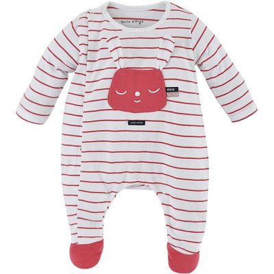 Pyjama léger rayé rouge Lapin (18 mois) Sucre d'orge