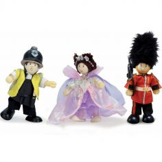 Lot de 3 figurines Coeur de Londres (9 cm)