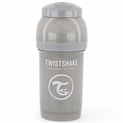 Biberon anti-colique gris pastel (180 ml)  par Twistshake