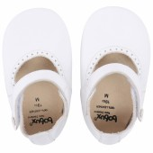 Chaussons en cuir Soft soles blanc Mary Jane (15-21 mois) - Bobux