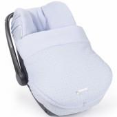 Housse et couvre-jambes pour siège auto groupe 0 Elodie bleu clair - Pasito a pasito