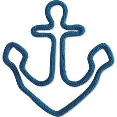 Déco murale ancre marine en tricotin (personnalisable)