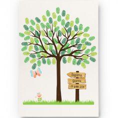 Kit arbre à empreintes papillon personnalisable (A4)