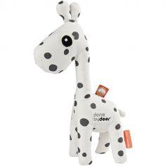 Hochet peluche Raffi la girafe blanc et gris (20 cm)