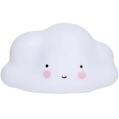 Veilleuse nuage blanc (24,5 cm)  par A Little Lovely Company