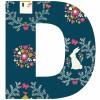 Lettre adhésive D Secret garden by Susan Driscoll - Lilipinso