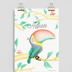 Affiche A4 Toucan (personnalisable)