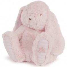 Peluche Augustin le lapin rose (35 cm)