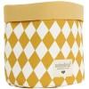 Panier de toilette Mambo Losange jaune miel (15 x 16 cm) - Nobodinoz